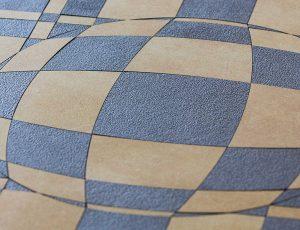 Optický klam - barevná mozaika z dlažby.