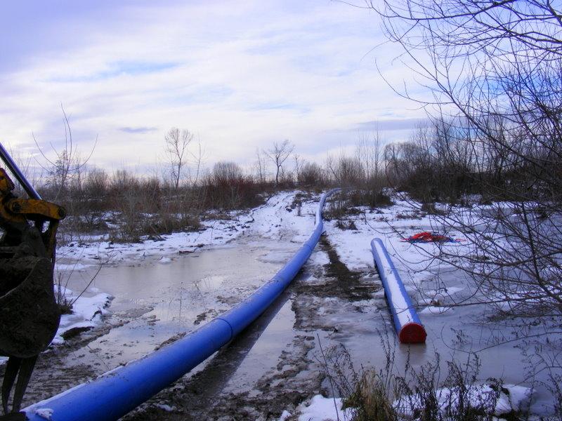 Vtahování potrubí DN 400